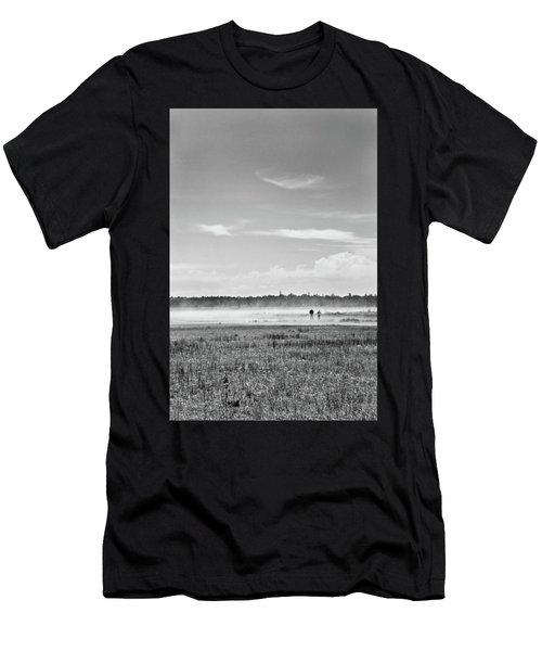 Foggy Day On A Marsh Men's T-Shirt (Athletic Fit)