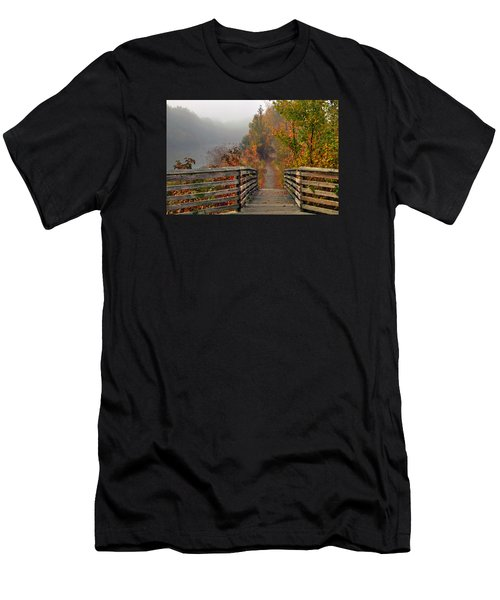 Foggy Fall Trail Men's T-Shirt (Athletic Fit)