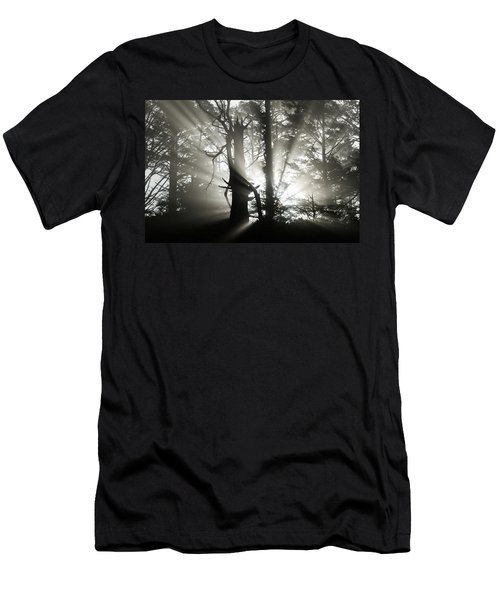 Men's T-Shirt (Athletic Fit) featuring the photograph Foggy Flares by Wesley Aston