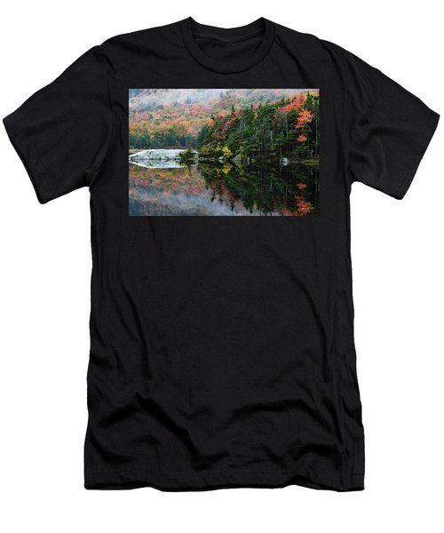Men's T-Shirt (Athletic Fit) featuring the photograph Foggy Foliage Morning Kinsman Notch by Jeff Folger