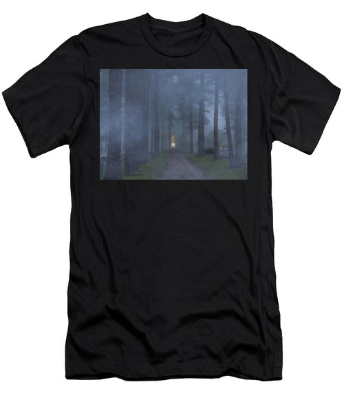 Foggy Hallowed Ground Men's T-Shirt (Slim Fit) by Kimo Fernandez