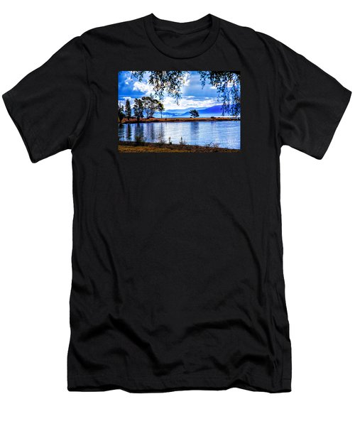 Foggy Hills And Lakes Men's T-Shirt (Athletic Fit)