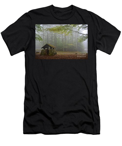 Foggy Morning At Droop Mountain Men's T-Shirt (Athletic Fit)