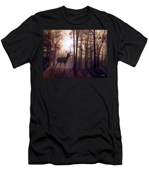 Foggy Morning In Missouri Men's T-Shirt (Slim Fit) by Bill Stephens