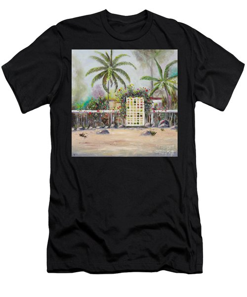 Men's T-Shirt (Athletic Fit) featuring the painting Foggy Morning by Mary Scott