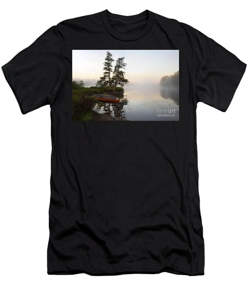 Foggy Morning On The Kawishiwi River Men's T-Shirt (Athletic Fit)