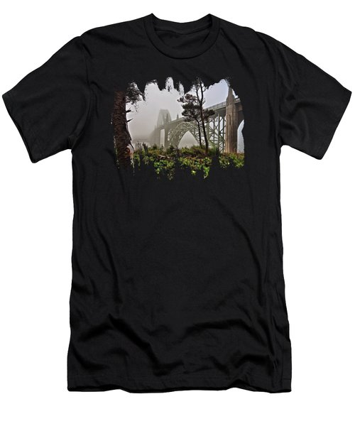 A Foggy Morning On Yaquina Bay Men's T-Shirt (Athletic Fit)
