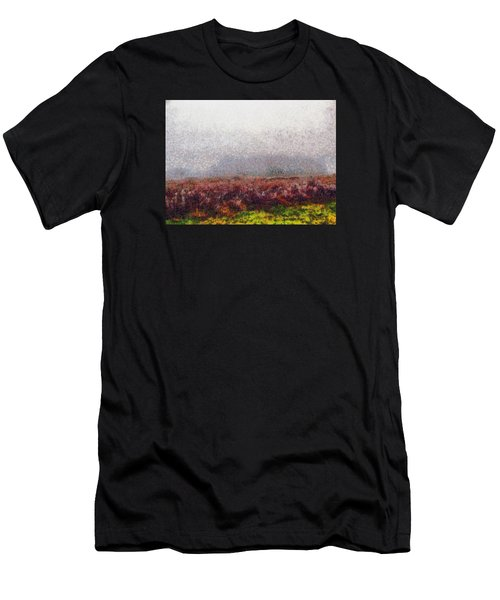 Men's T-Shirt (Slim Fit) featuring the photograph Foggy Morning by Spyder Webb