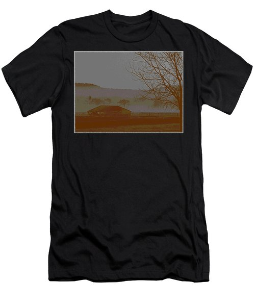 Men's T-Shirt (Athletic Fit) featuring the photograph Foggy Morning by W And F Kreations