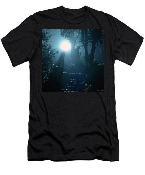 Foggy Night At The Old Railway Village Men's T-Shirt (Athletic Fit)