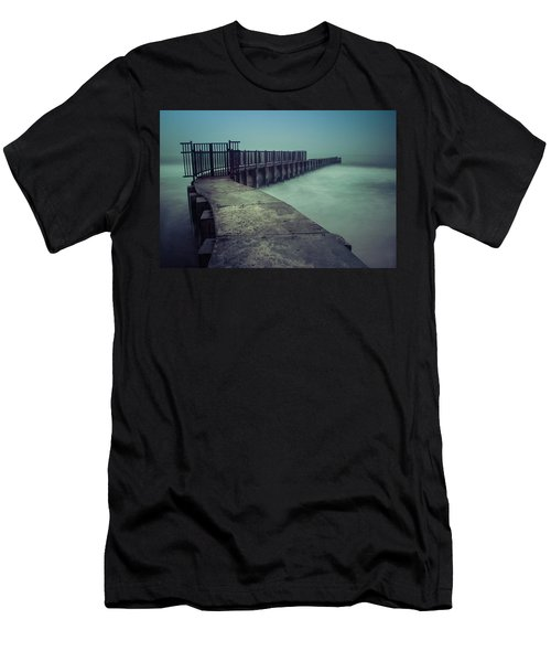 Foggy Night At Toes Beach Men's T-Shirt (Athletic Fit)