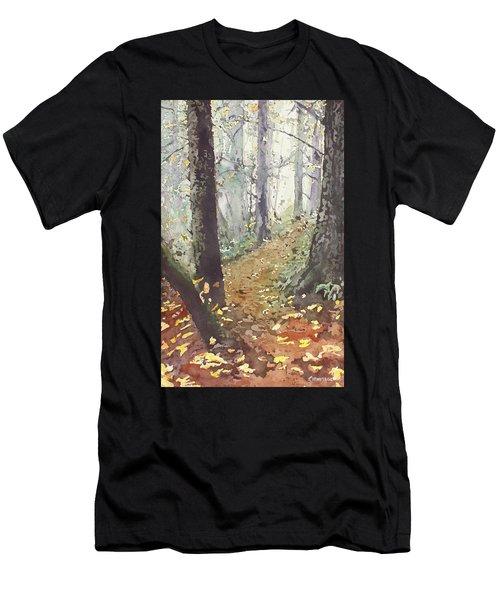 Foggy Path Men's T-Shirt (Athletic Fit)