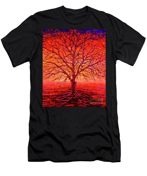 Foggy Red Men's T-Shirt (Athletic Fit)