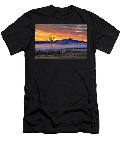 Foggy Spearfish Sunrise Men's T-Shirt (Athletic Fit)