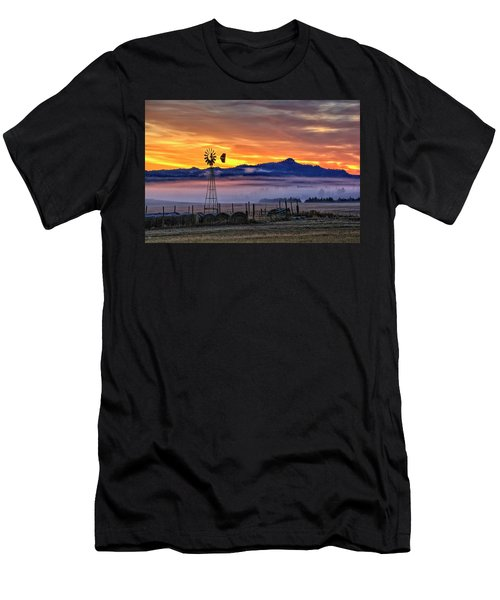 Foggy Spearfish Sunrise Men's T-Shirt (Athletic Fit)