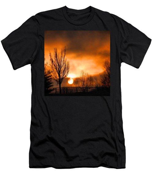 Foggy Sunrise Men's T-Shirt (Athletic Fit)