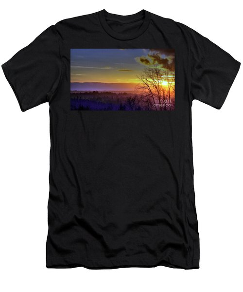 Foggy Sunset Men's T-Shirt (Athletic Fit)