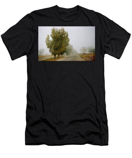 Foggy Trees Men's T-Shirt (Athletic Fit)