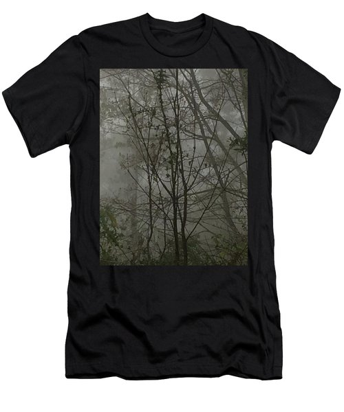 Foggy Woods Photo  Men's T-Shirt (Athletic Fit)