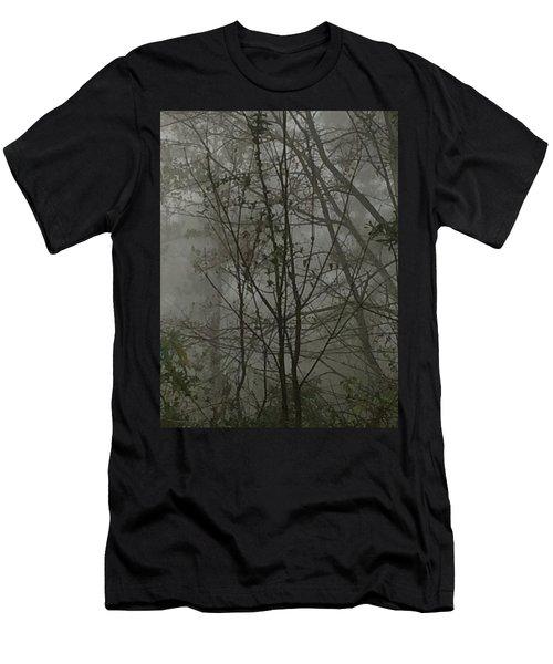 Foggy Woods Photo  Men's T-Shirt (Slim Fit)