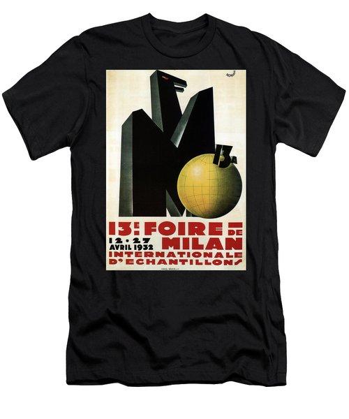 Foire De Milan 1932 - Internationale D'echantillons - Retro Travel Poster - Vintage Poster Men's T-Shirt (Athletic Fit)
