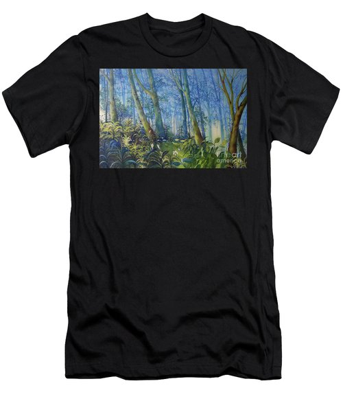 Follow Me Oil Painting Of A Magic Forest Men's T-Shirt (Athletic Fit)
