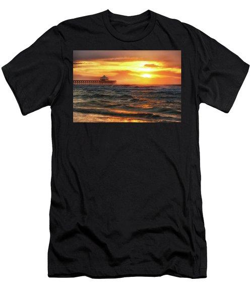 Folly Beach Pier Sunrise Men's T-Shirt (Athletic Fit)