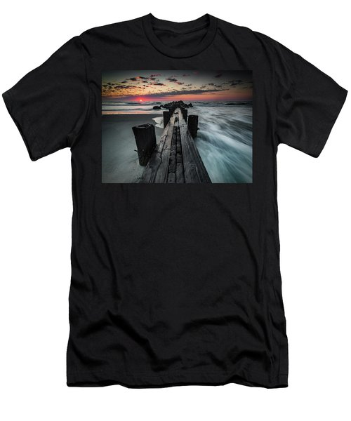 Folly Beach Tale Of Two Sides Men's T-Shirt (Athletic Fit)