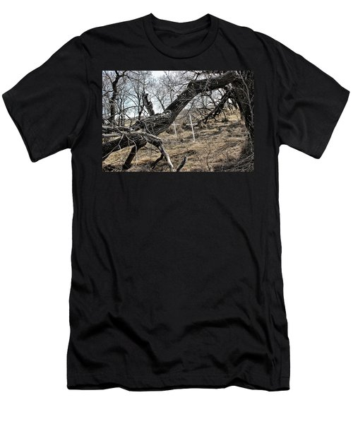 Men's T-Shirt (Slim Fit) featuring the photograph Fone Hill Cemetery  by Ryan Crouse