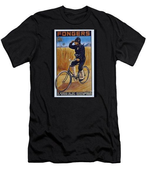 Fongers In Gebruik Bil Nederlandsche En Nederlndsch Indische Leger Vintage Cycle Poster Men's T-Shirt (Athletic Fit)