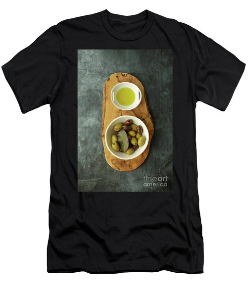 Food Still Life With Olives Men's T-Shirt (Athletic Fit)