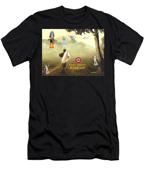 Fool Enters Dreamland Men's T-Shirt (Athletic Fit)