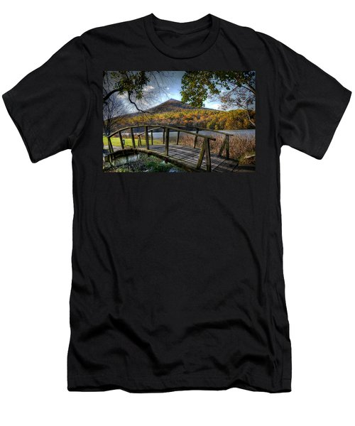 Foot Bridge Men's T-Shirt (Slim Fit) by Todd Hostetter
