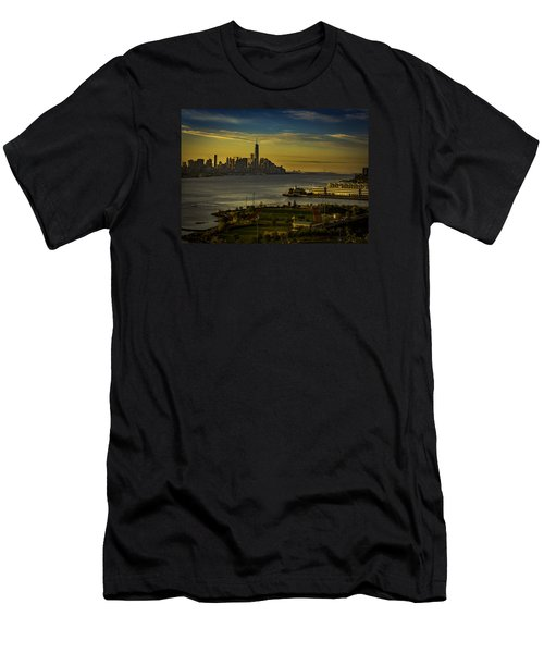 Football Field With A View Men's T-Shirt (Athletic Fit)