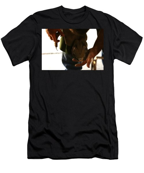 Men's T-Shirt (Slim Fit) featuring the photograph Footcare by Angela Rath