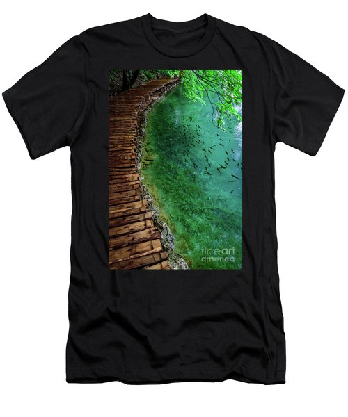 Footpaths And Fish - Plitvice Lakes National Park, Croatia Men's T-Shirt (Athletic Fit)
