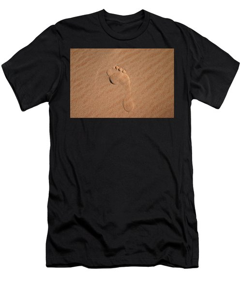 Footprint In The Sand Men's T-Shirt (Athletic Fit)