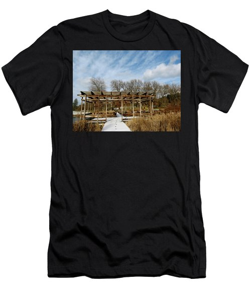 Footprints In The Snow Men's T-Shirt (Athletic Fit)