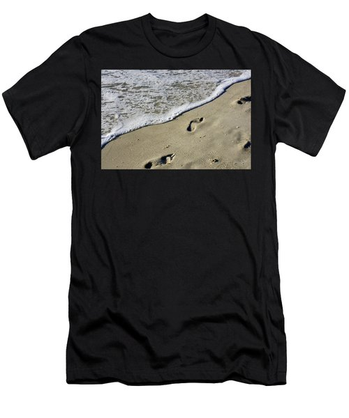 Footprints On The Beach Men's T-Shirt (Athletic Fit)