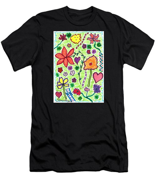 For The Love Of Flowers Men's T-Shirt (Athletic Fit)