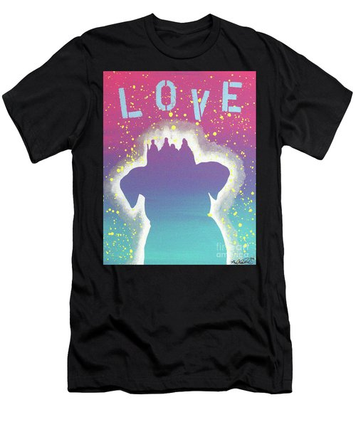 For The Love Of Pups Men's T-Shirt (Athletic Fit)