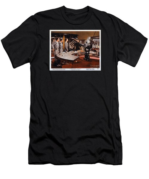 Forbidden Planet Amazing Poster Inside With Scientist Men's T-Shirt (Athletic Fit)