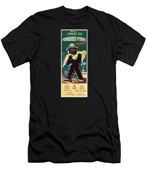 Forbidden Planet In Cinemascope Retro Classic Movie Poster Portraite Men's T-Shirt (Slim Fit) by R Muirhead Art