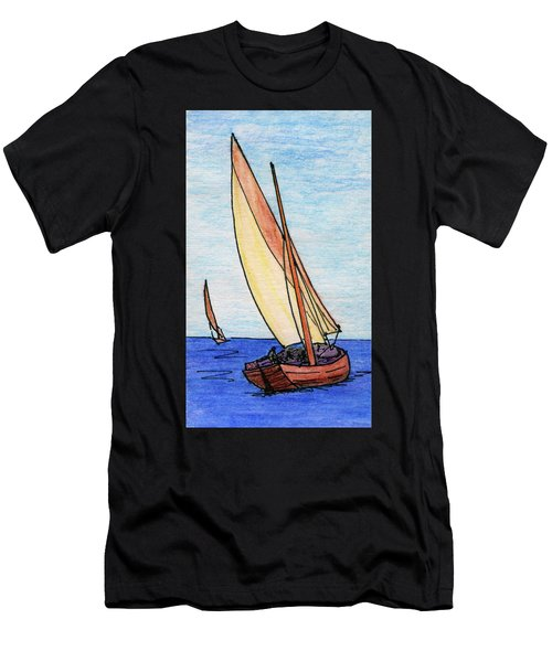 Force Of The Wind On The Sails Men's T-Shirt (Athletic Fit)