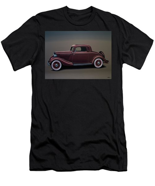 Ford 3 Window Coupe 1933 Painting Men's T-Shirt (Athletic Fit)
