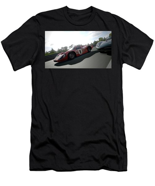 Ford Gt40 Mark Iv Men's T-Shirt (Athletic Fit)