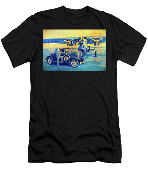 Ford Trimotor And 1931 Model A Roadster Men's T-Shirt (Athletic Fit)