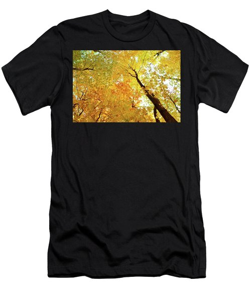 Forest Fall Yellow  Men's T-Shirt (Athletic Fit)