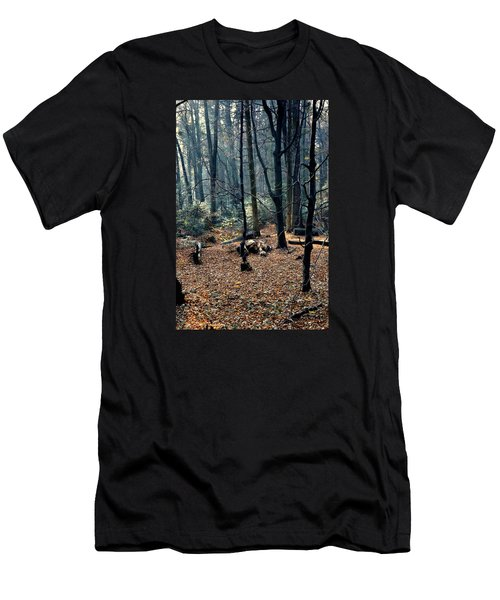 Fir Forest-1 Men's T-Shirt (Slim Fit) by Henryk Gorecki