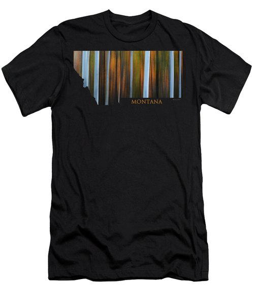 Forest Illusions-montana Men's T-Shirt (Athletic Fit)